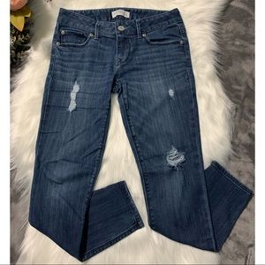 EXPRESS Stella ANKLE SKINNY Jeans Size 0 Low Rise